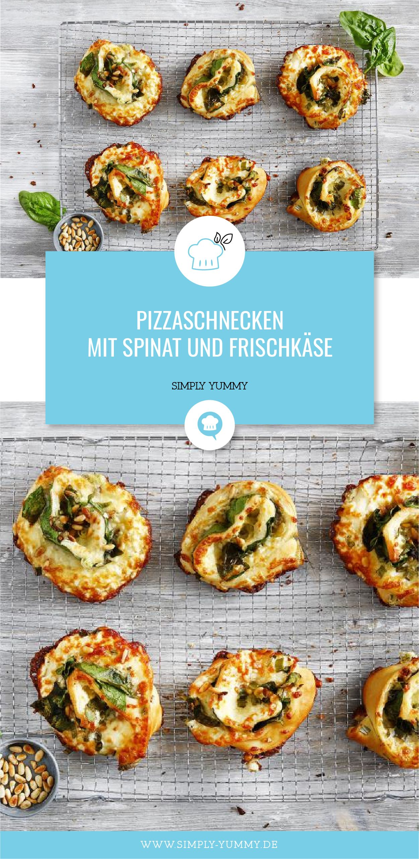 Pizzaschnecken mit Spinat und Frischkäse #carneconpapas