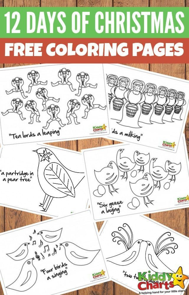 Light up Christmas with our 12 days of Christmas free colouring pages! | Preschool christmas ...