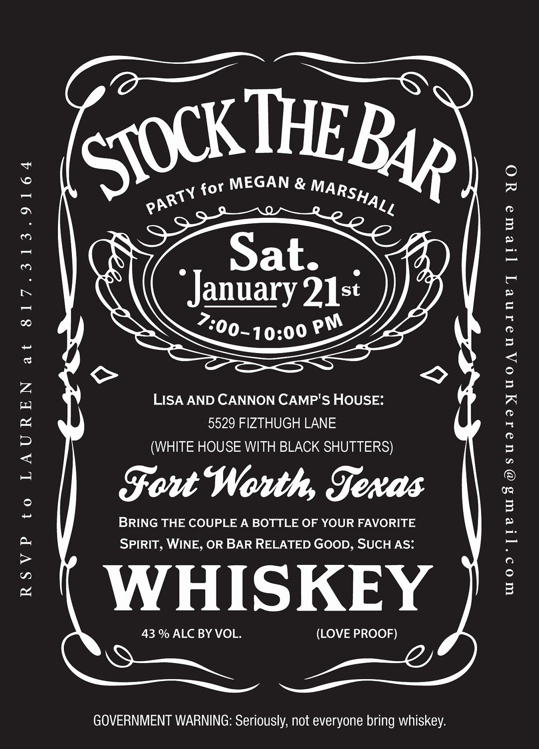 Jack Daniels Invitation Template Free Luxury Jack Daniels Birthday