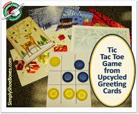 simply shoeboxes tic tac toe game from upcycled greeting cards perfect for - Shoebox Christmas Cards