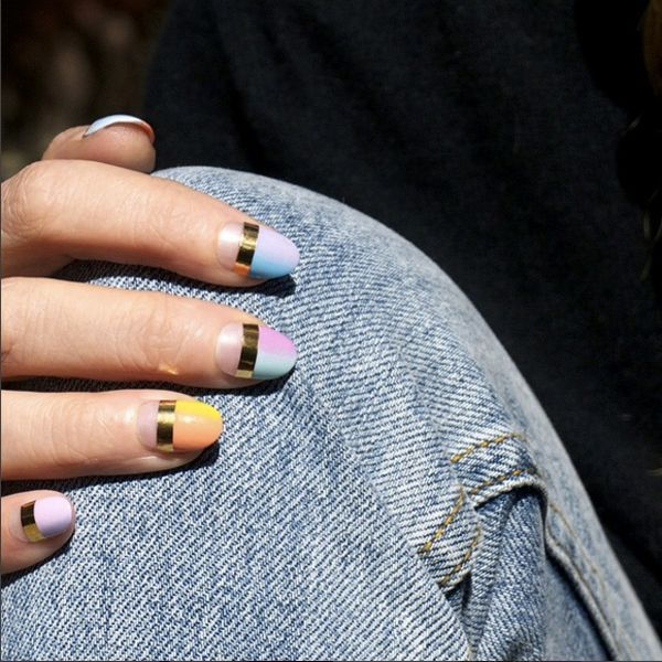 The Raddest Nail Art Coming Out Of L.A. Right Now | Striping tape ...