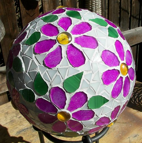 Flower Power Gazing Ball