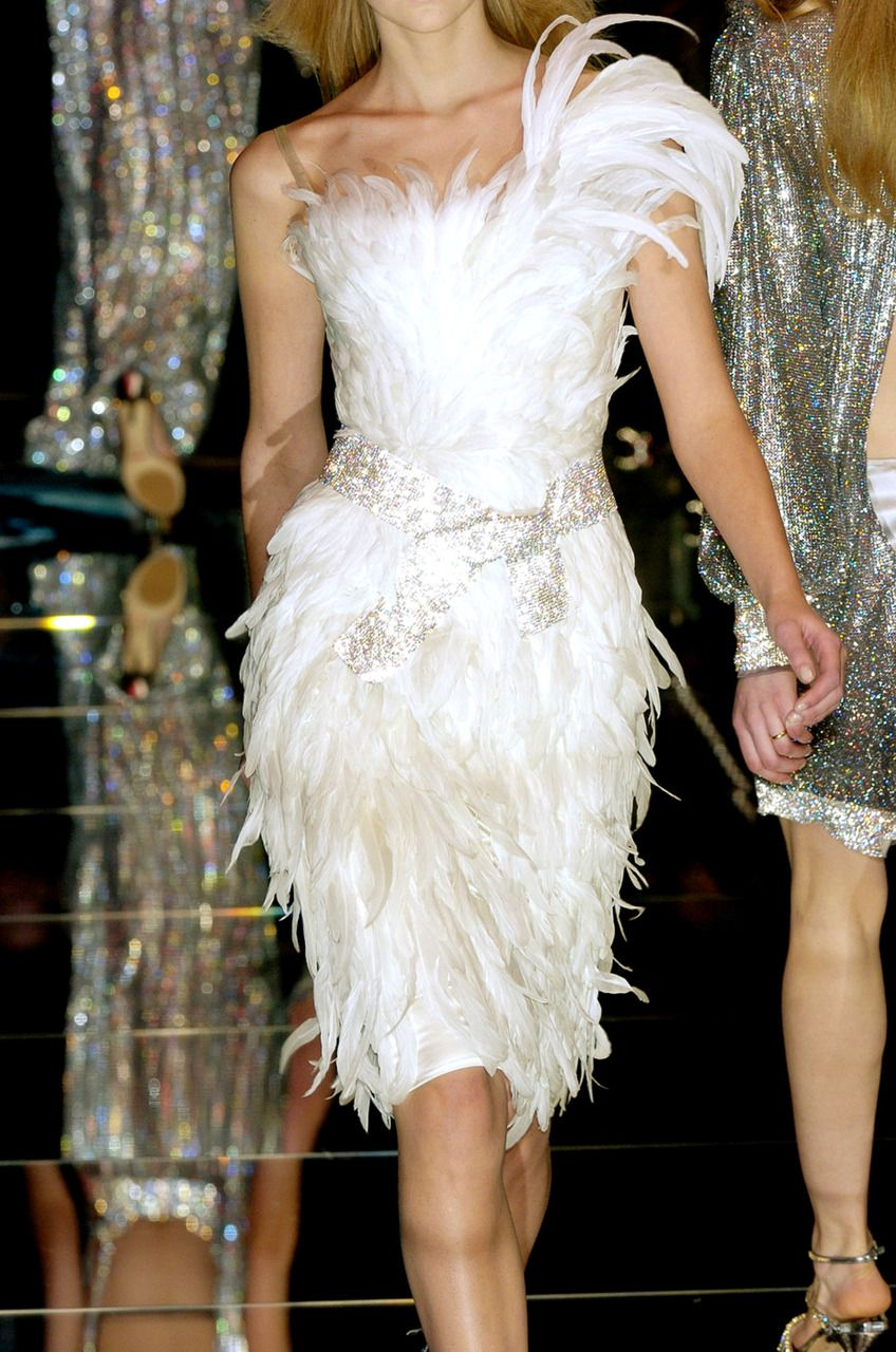 Dolce & Gabbana - white feathers - cocktail dress..LOVE IT ...