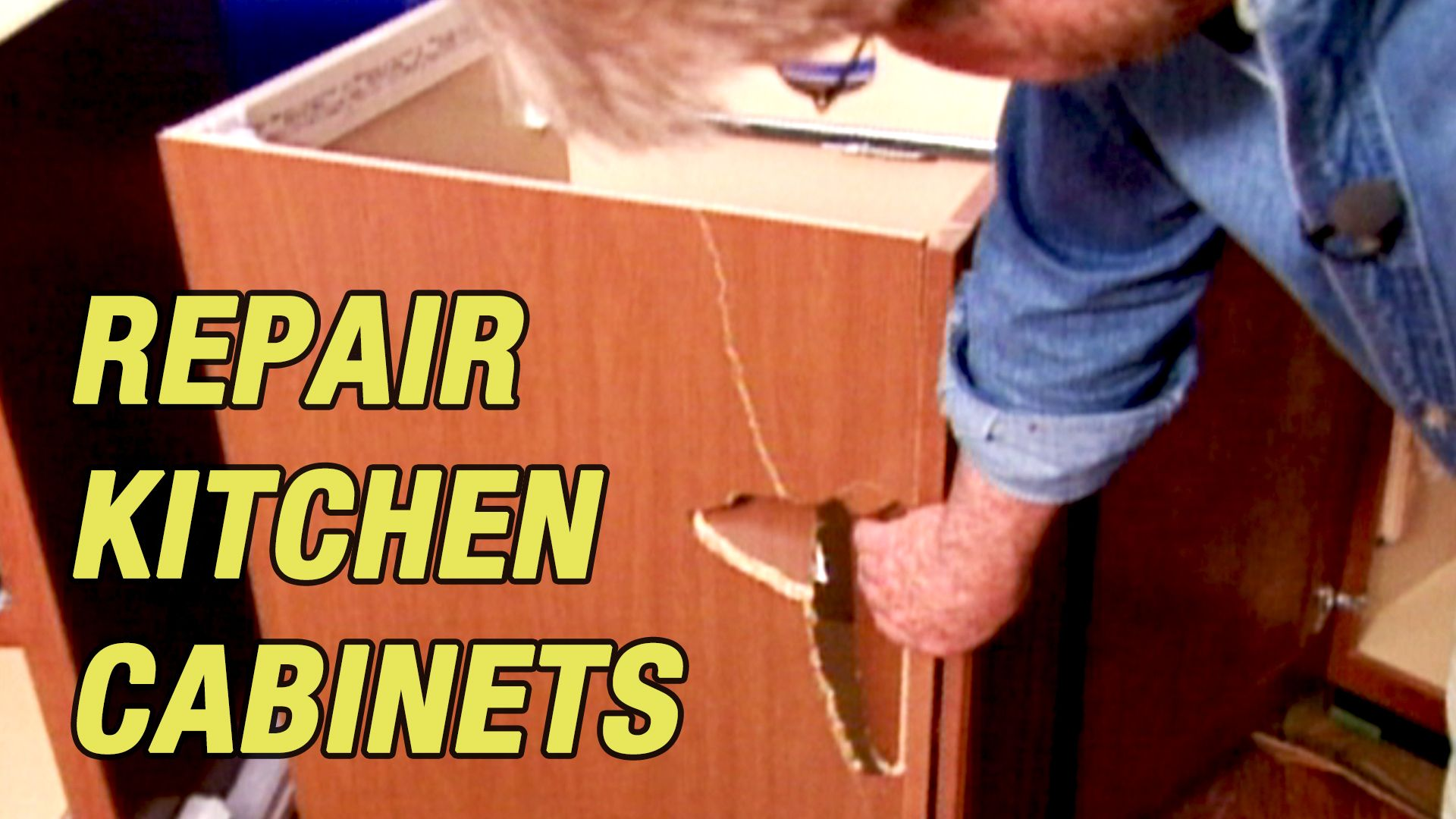 How To Repair Gouges In Kitchen Cabinets Kitchen Repairs Kitchen Cabinets Repair