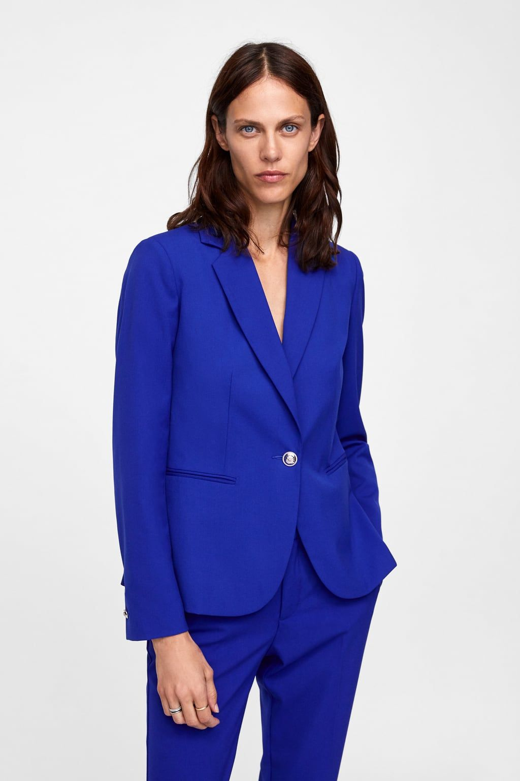 c1f69b7a Image 2 of BASIC BLAZER from Zara | wear | Royal blue pants, Blazer ...