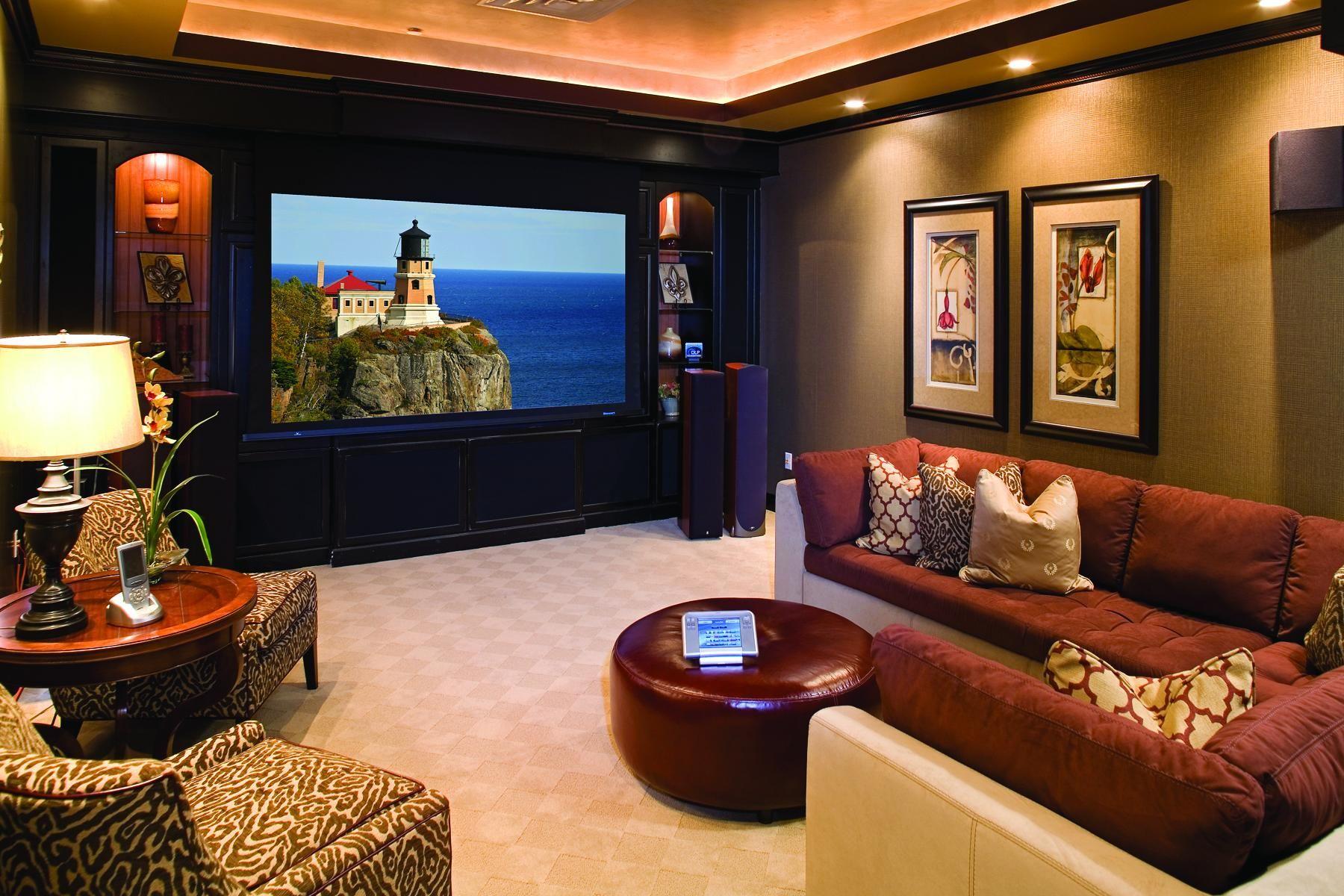 Home Theater Design Ideas Budget #4 - Basement TV Room Ideas ...