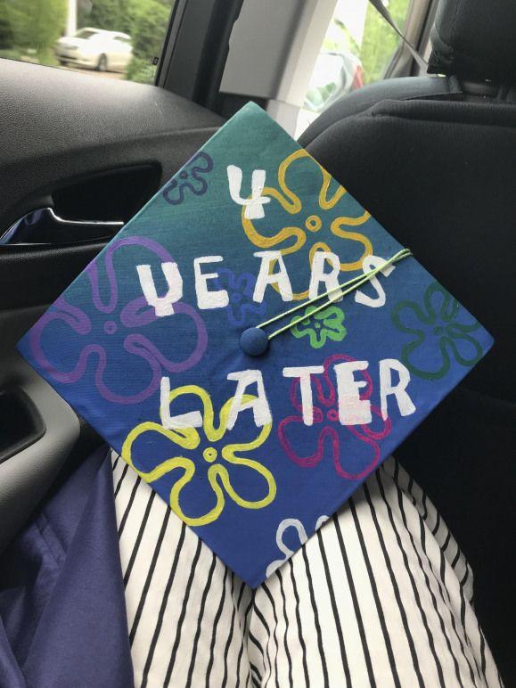 Spongebob Title-card Graduation Cap for my High School Graduation #collegegradua…