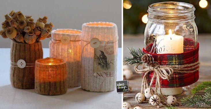 Riciclare i barattoli di vetro per decorare a natale 20 for Vasi di vetro ikea