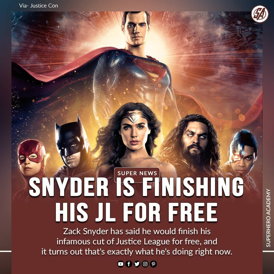 During his Justice Con panel, Snyder once again shared his