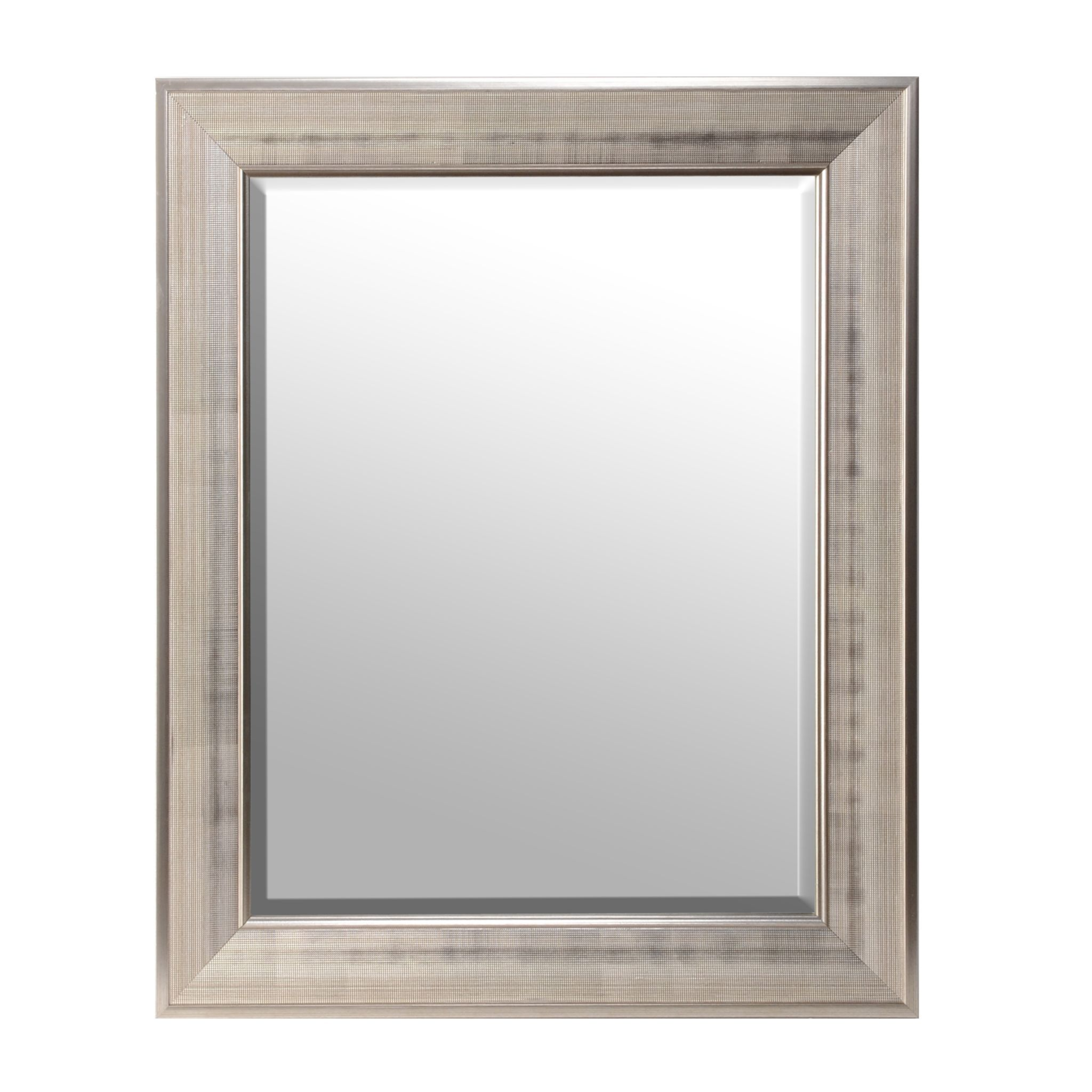 Silver Framed Bathroom Mirrors silver grid framed mirror, 30x36 | kirklands | bedroom | pinterest