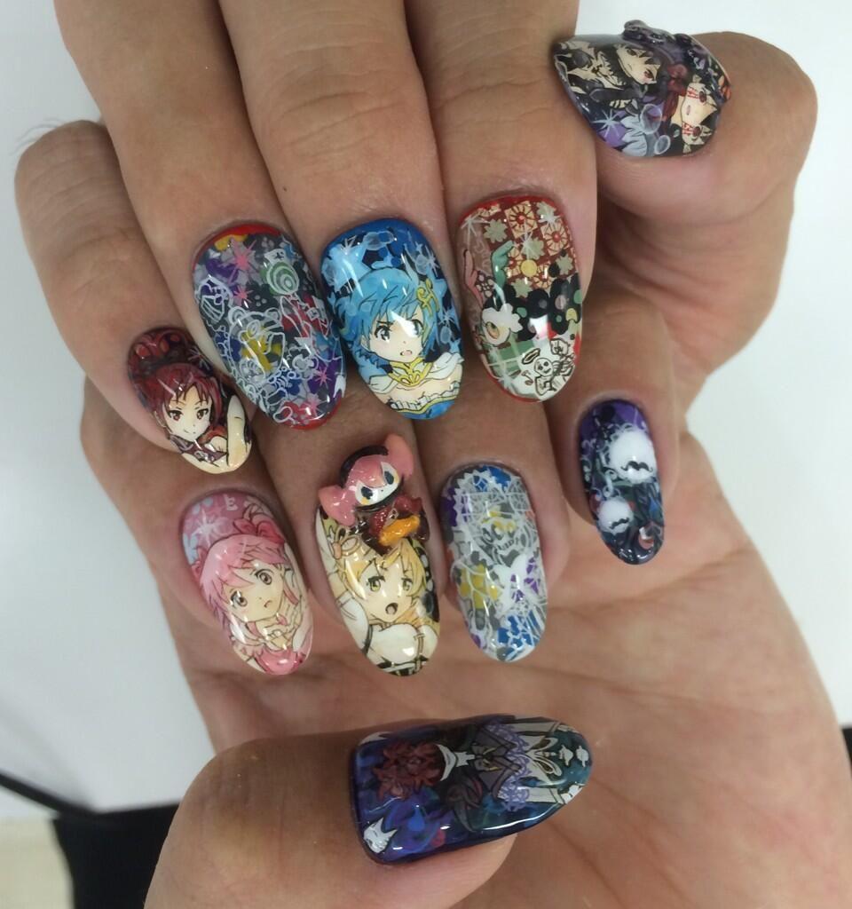 痛ネイル 関西 大阪 兵庫 METORO on | Pinterest | Madoka magica ...