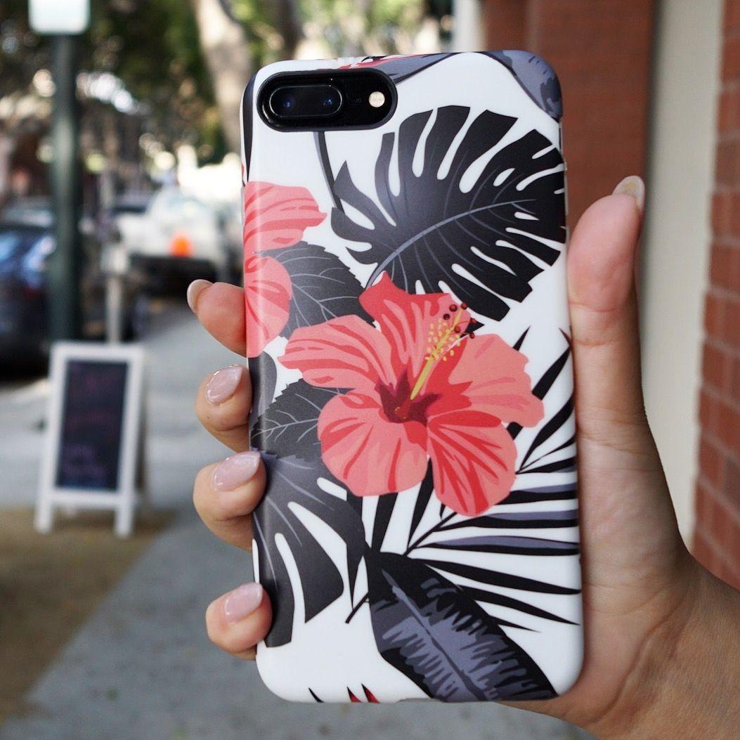 coque iphone 8 plus hibiscus