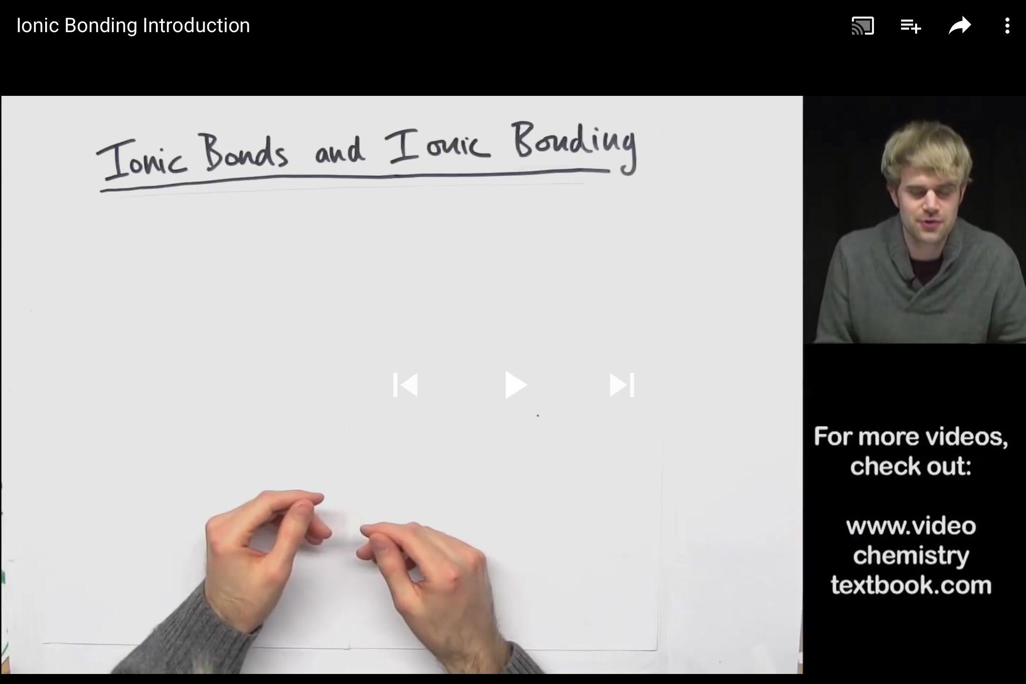 Ionic Bonding Introduction