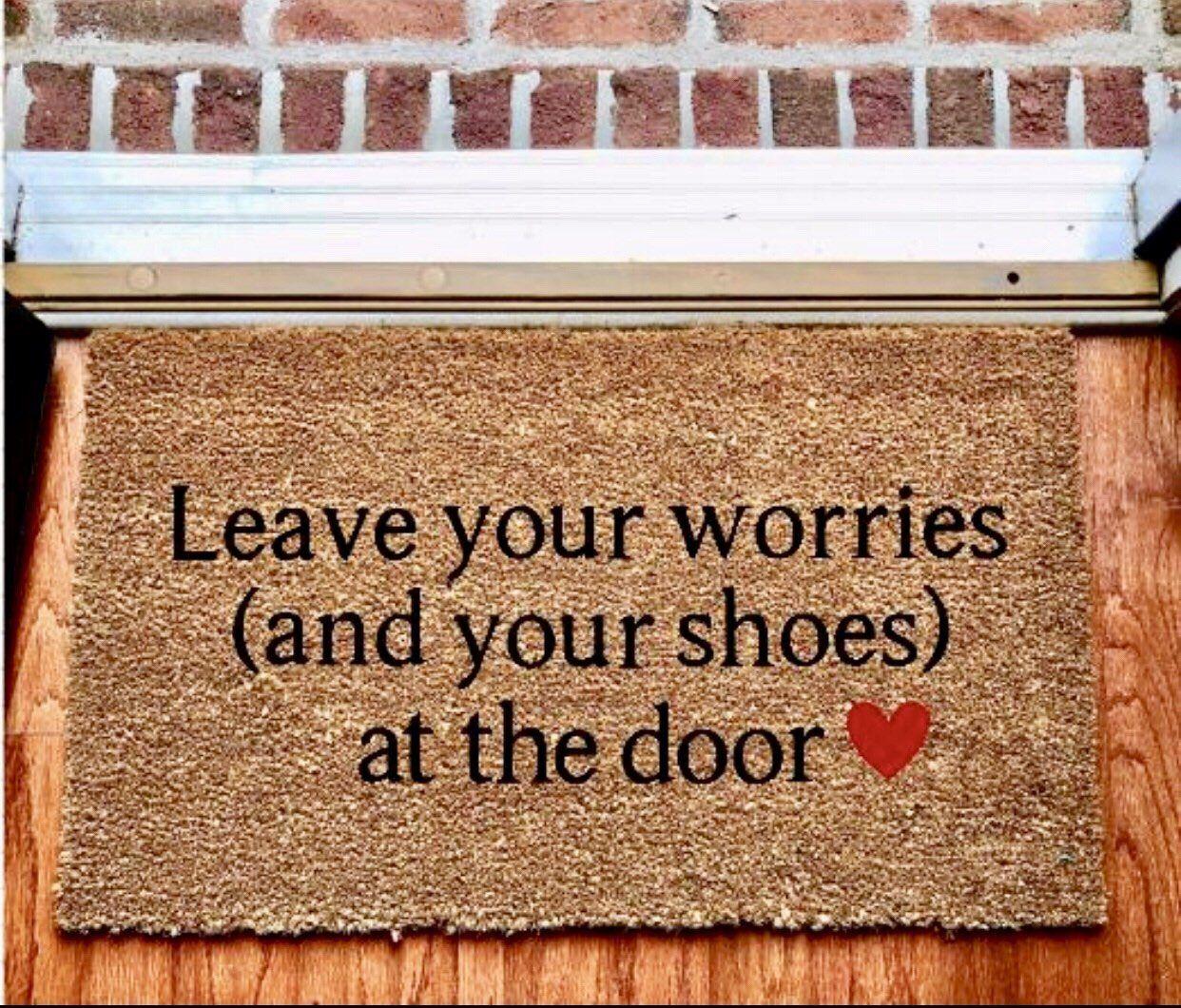 Custom Doormat Remove Your Shoes Doormat Rustic Home Decor