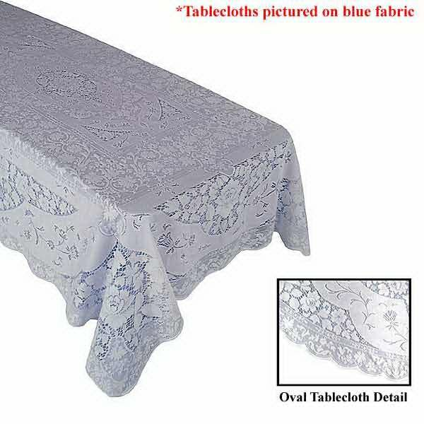 Double Extra Large White House Lace Tablecloth By Quaker Lace