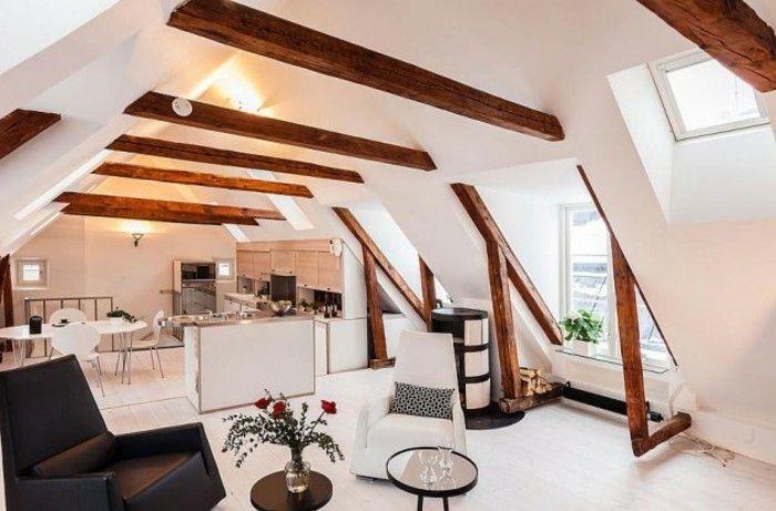 dachgeschosswohnung kücheneinrichtung dachschräge deko ideen ... - Küche Mit Dachschräge