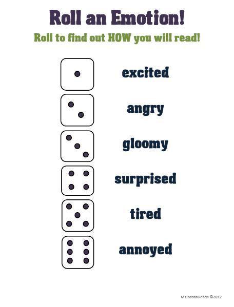 Roll A Dice Literacy Fun Teaching Drama Fluency Activities Drama Education
