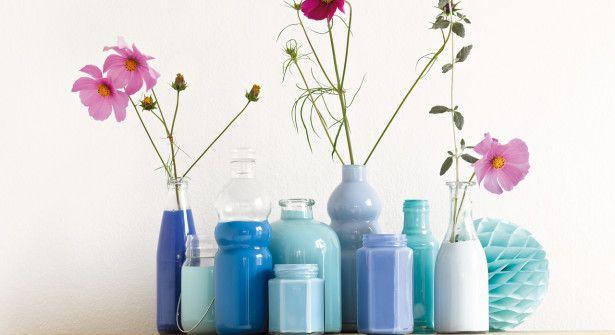 Peinture Sur Verre Des Vases Design Et Pas Cher Vase Design Idees De Vase Vases Decoratifs