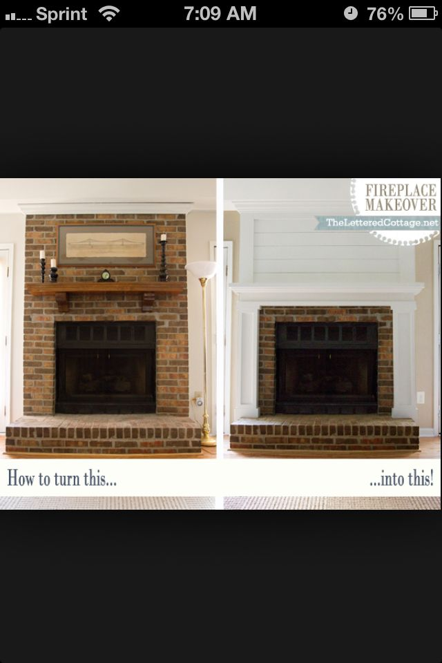 Fireplace remodel...LOVE this!