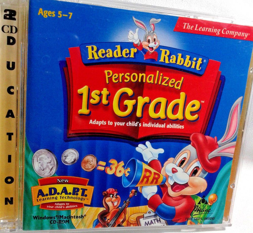 Reader Rabbit Personalized 1st Grade 2CD ROM Ages 57 The