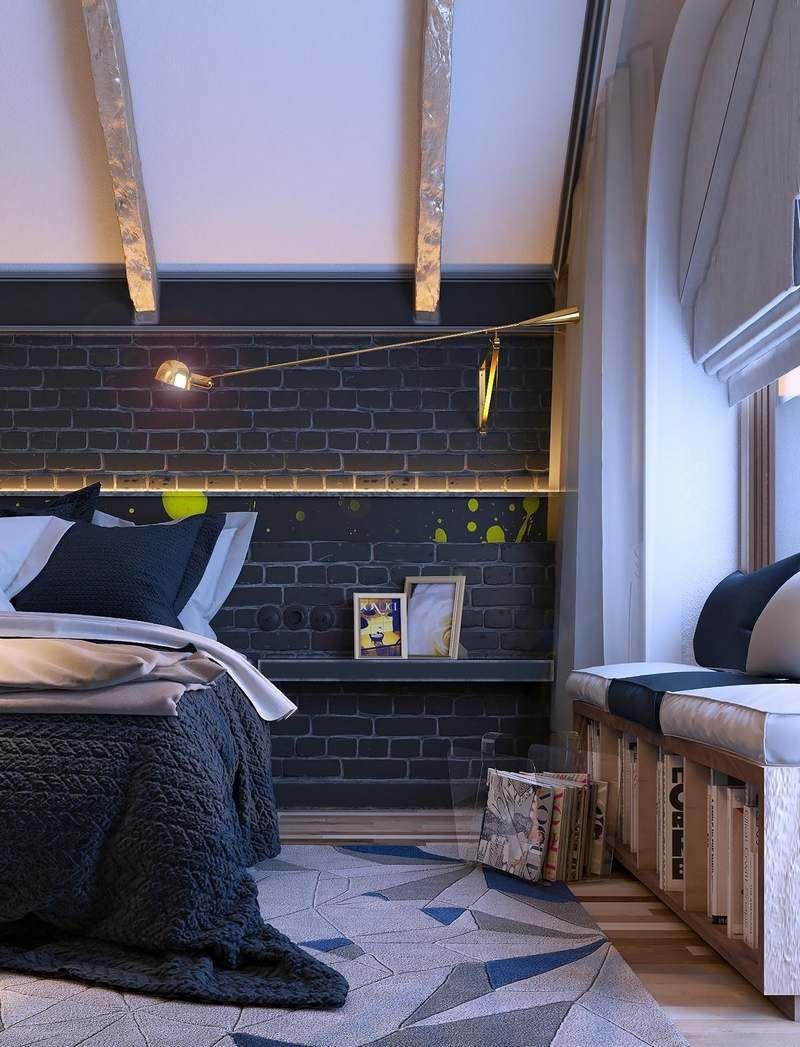 Décoration chambre adulte - textures, art et luminaires   Décoration ...