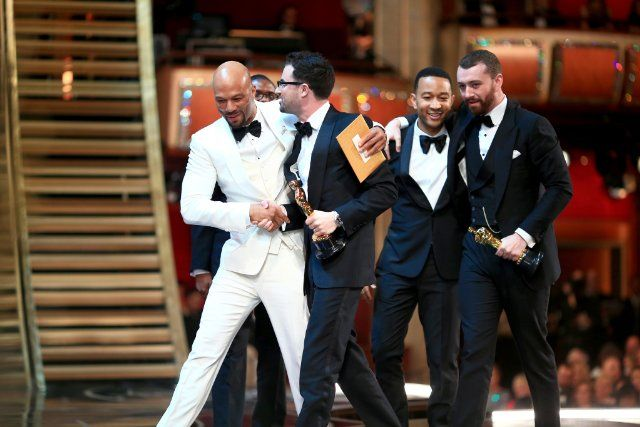 Common, John Legend, Sam Smith and James Napier at event of The Oscars (2016)