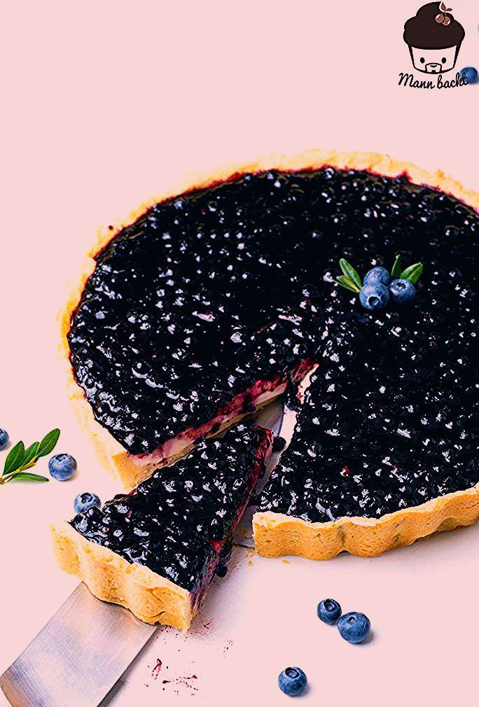 Photo of Heidelbeer Panna Cotta Cheesecake – Mann backt