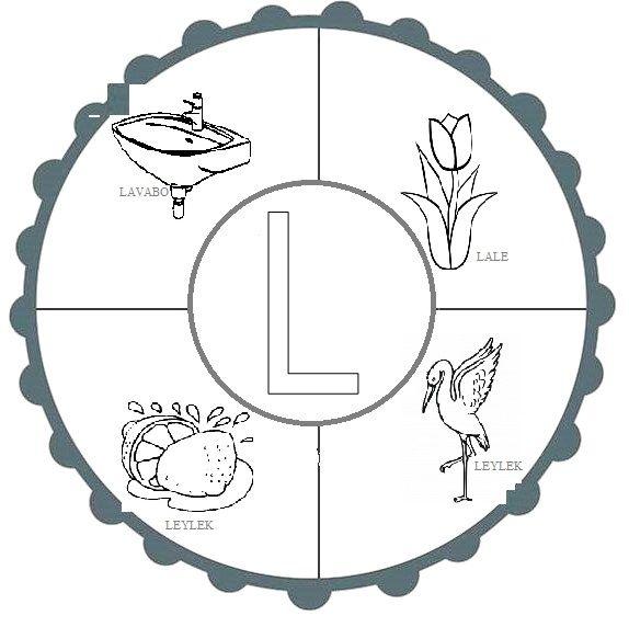 L Sesi Mandala Alfabe Calisma Sayfalari Sinif Duzenleme Alphabet
