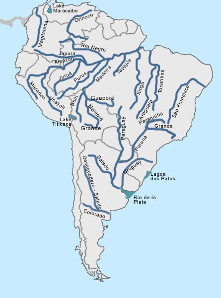 South america rivers 6th South America Biomes Pinterest