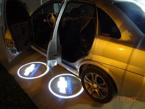 Amazon Com 2 X Led Car Door Shadow Laser Projector Logo Light For Chevrolet Chevy Aveo Camaro Caprice Captiva Celta Co Chevy Cruze Accessories Cruze Chevrolet