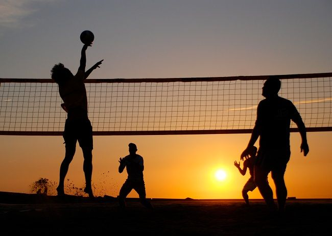 A Volleyball Tournament Opens Today As Part Of The Qatar Workers