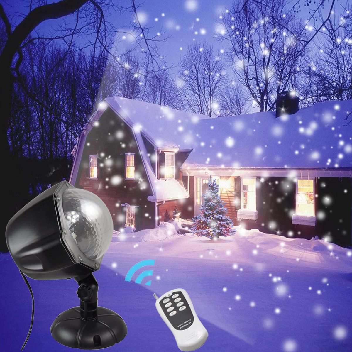 GESIMEI Led Christmas Light Projector Outdoor Decorative Light Show ...