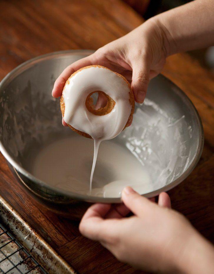 Vanilla Glazed- Chocolate Chip Doughnuts #glutenfree