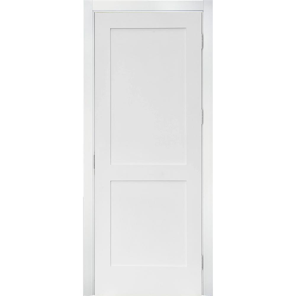 Krosswood Doors 28 in  x 96 in  Craftsman Shaker Primed MDF