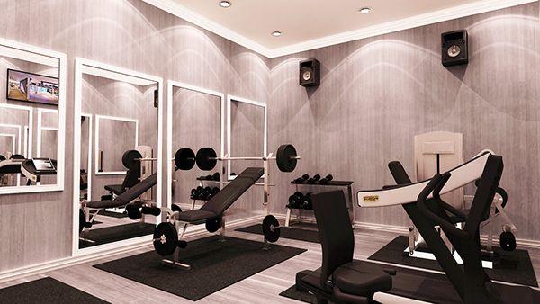Qatar doha small home gym design option on behance