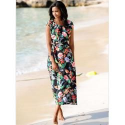 Photo of Alba Moda, beach dress with floral print, black Alba Moda