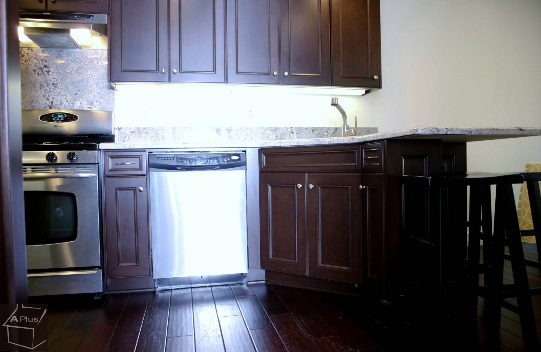 Chino Hills Kitchen cabinets remodeling with wood floor