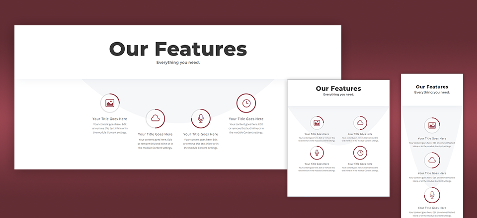 Design A Unique Feature Section In Divi With Icons Animated By Circle Counters Website Design And Development Web Design Web Design Tutorials Wellness Design