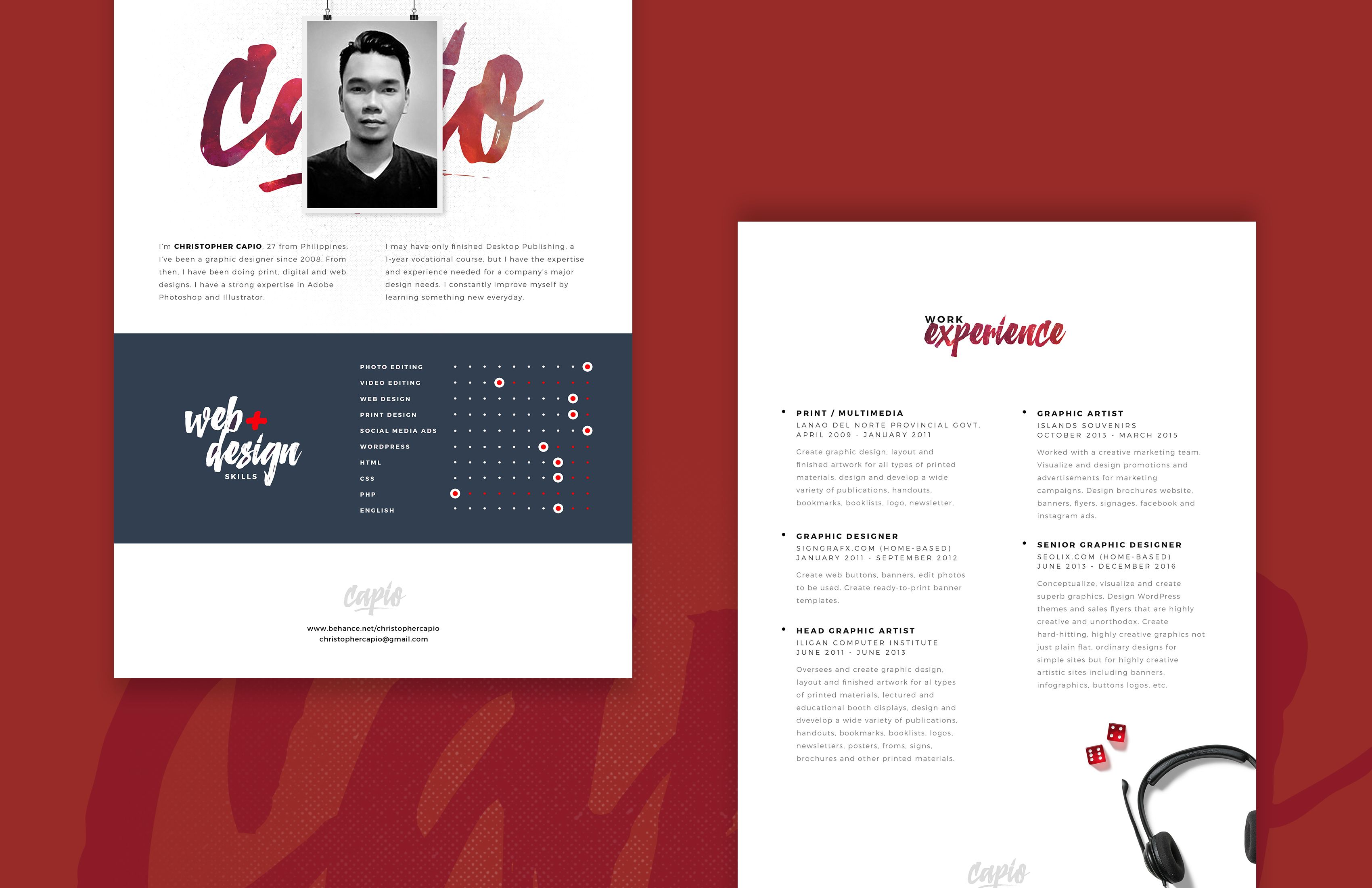 Nice Web Designer Resume Template Free Psd Download Web Designer