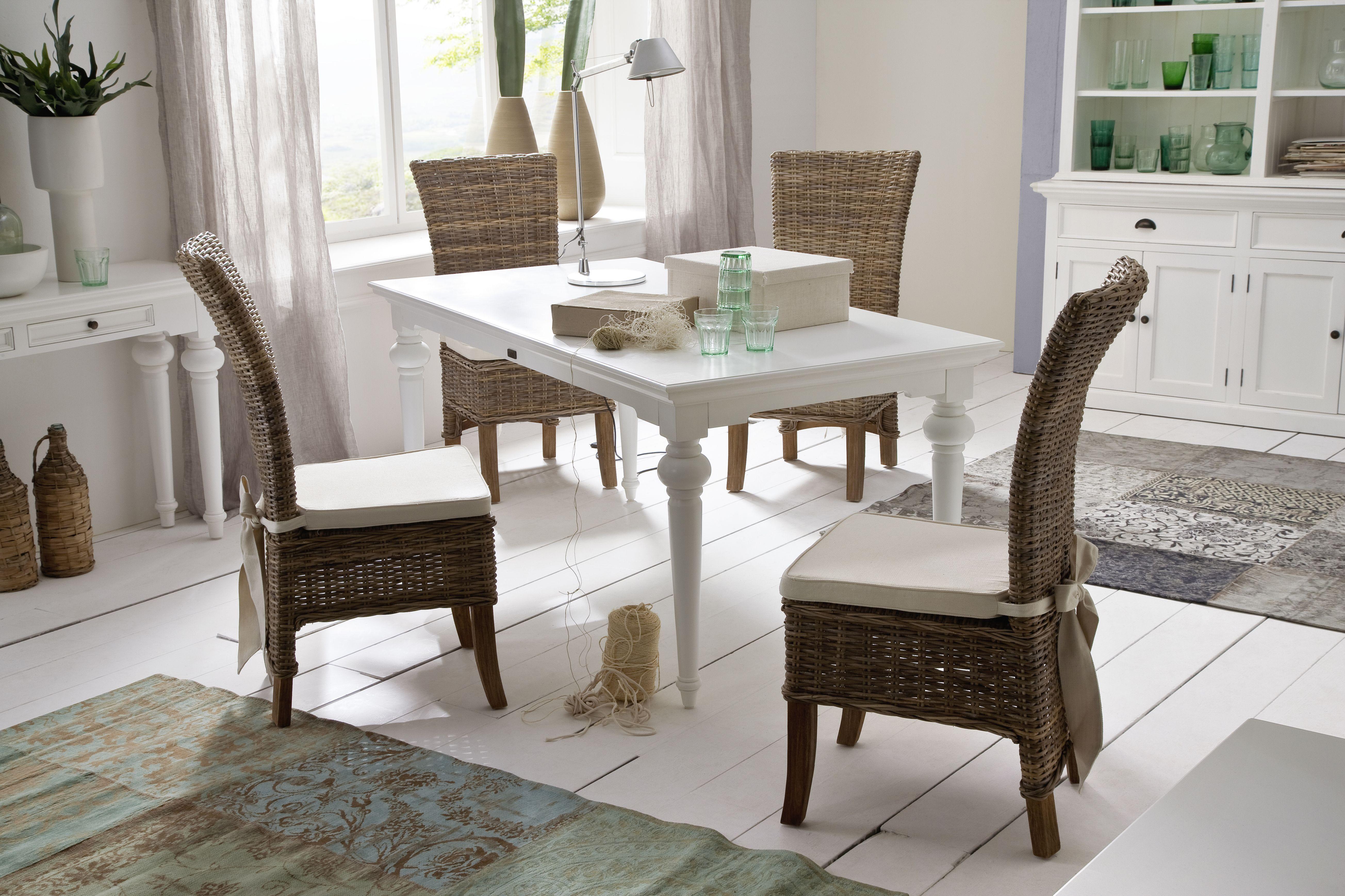 White Mahogany Furniture Hand Made Kubu Rattan Chairs Salsa