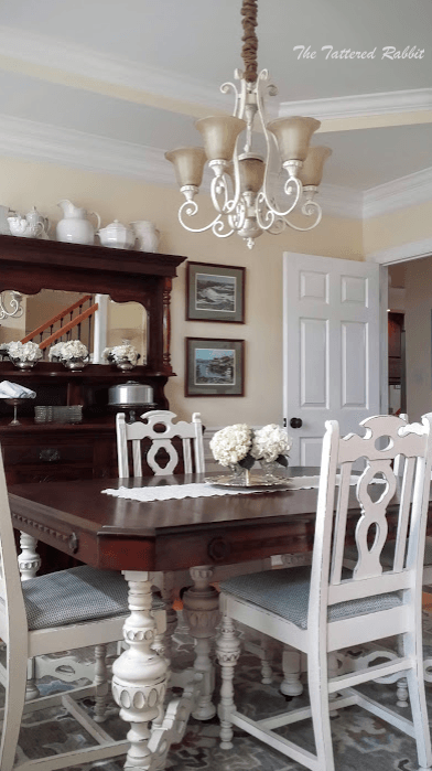 Dining Room Table Makeover By The Tattered Rabbit. General