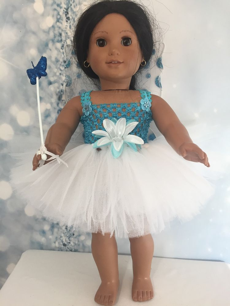 American Girl Doll Blue tutu dress Wings And Wand clothes fits all ...