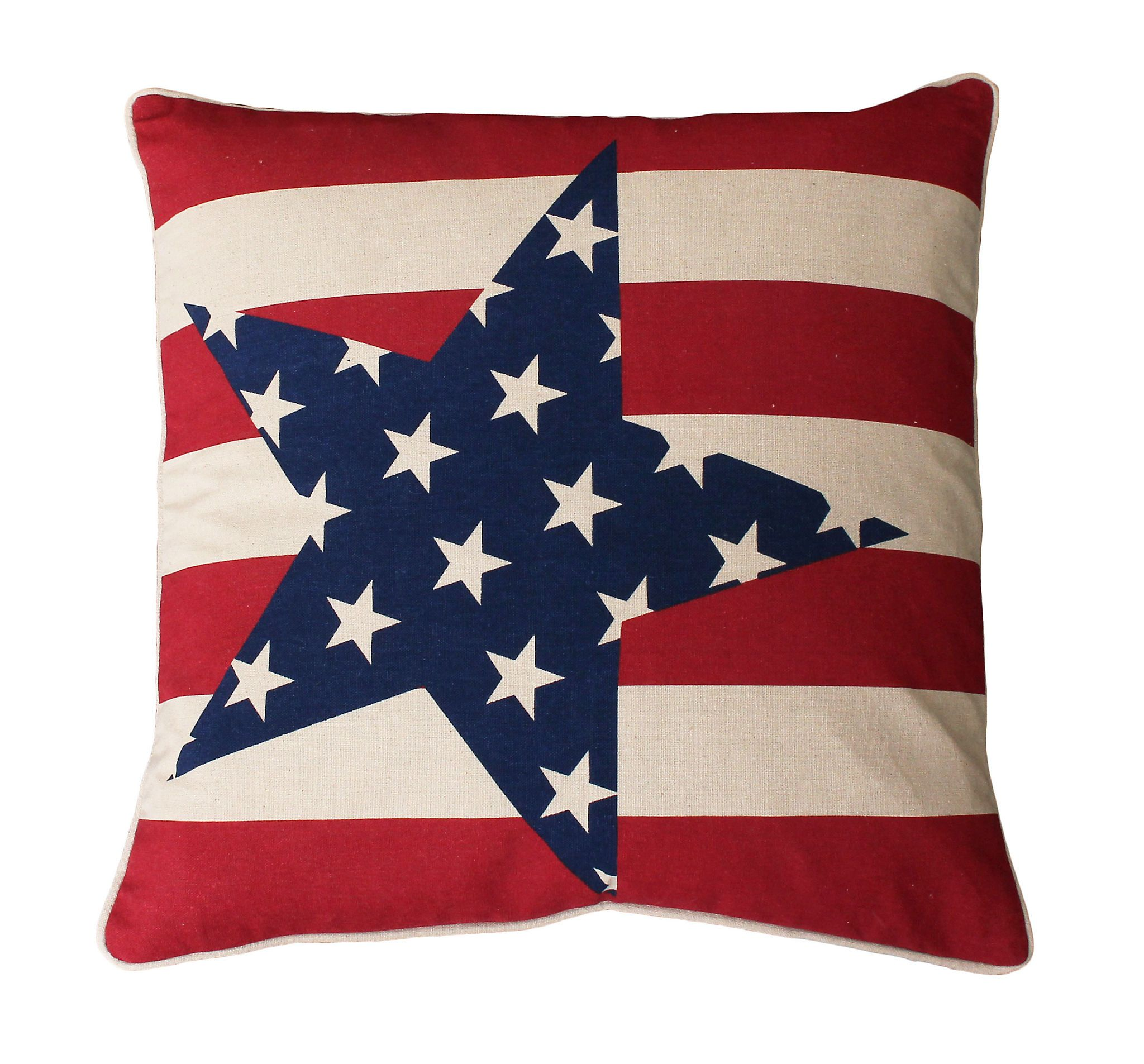 Natural Stars And Stripes Pillow - Kirklands