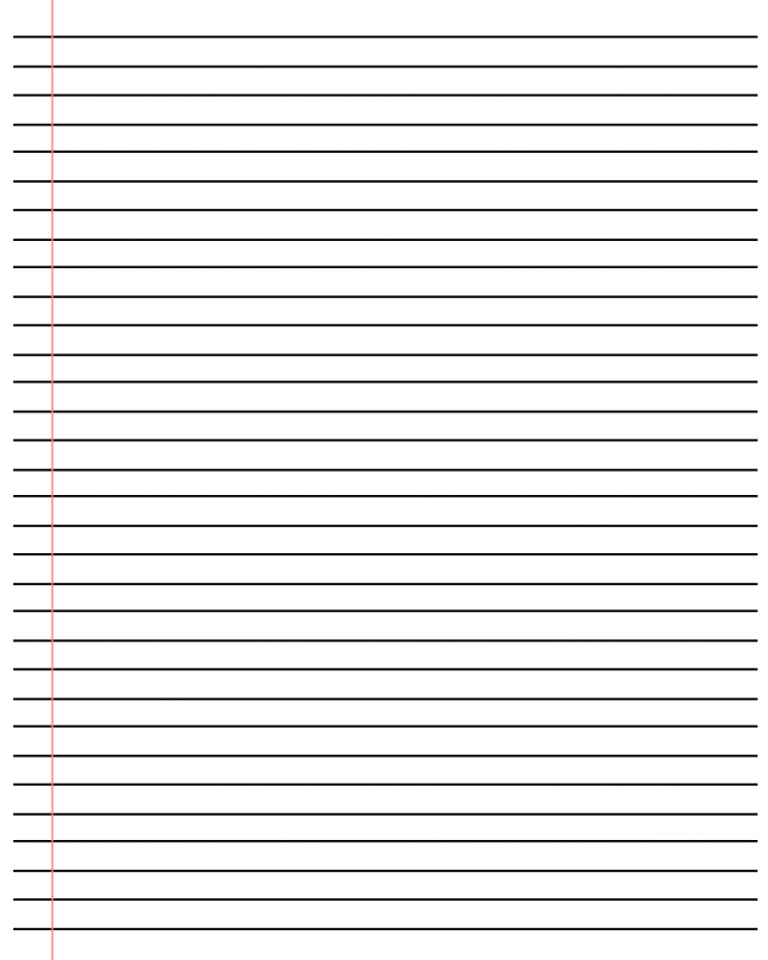 20 Free Printable Blank Lined Paper Template In Pdf Word Intended For Notebook Paper Template For Word In 2020 Notebook Paper Template Paper Template Ruled Paper