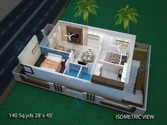 Way2nirman Provides Small House Construction Floor Drawings House Plans With Plan Elevation Isom 2bhk House Plan Small House Construction House Layout Plans