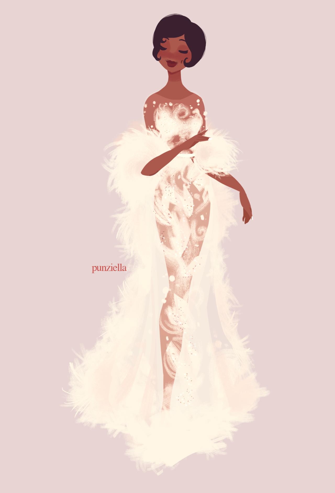 Punziella fashion illustrations pinterest princess tiana and