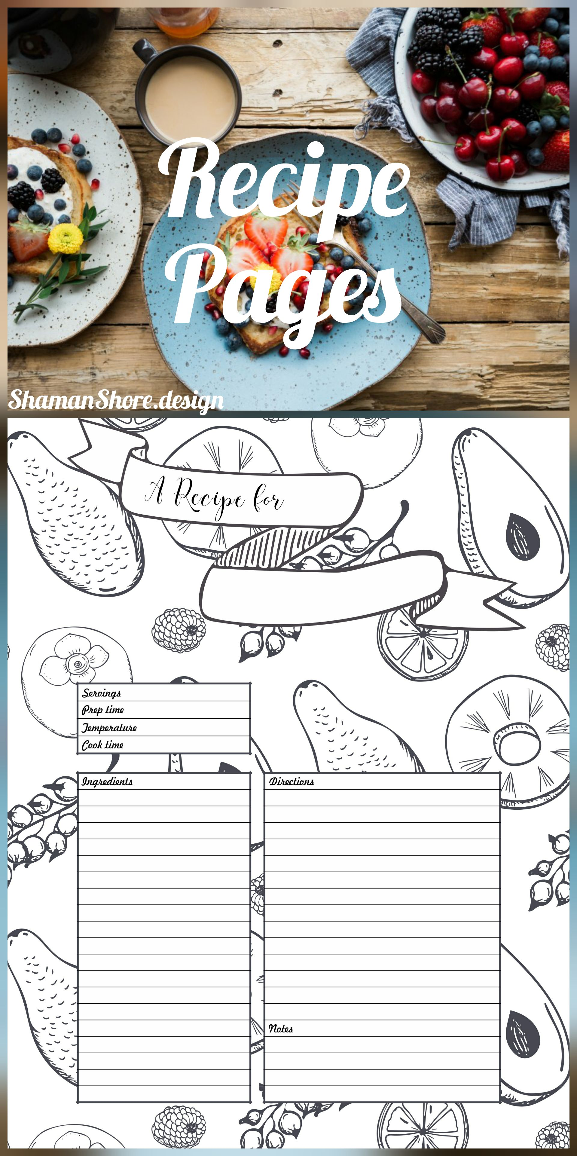 blank recipe pages koni polycode co