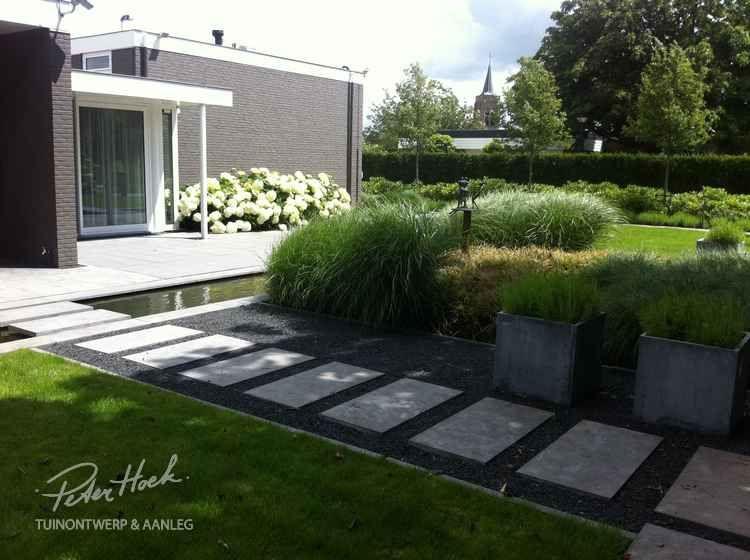 Voorbeeldtuin modeltuin tuinvoorbeelden tuinfoto for Moderne waterpartijen tuin