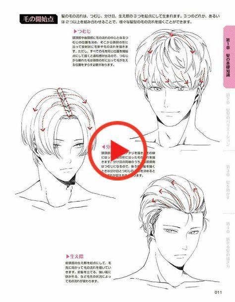 48 Ideas How To Draw Anime Hair Male In 2020 How To Draw Anime Hair Manga Hair Drawing Male Hair