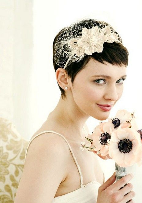 Short Pixie Cut For Wedding Lovely Bridal Pixie Cut Wedding Hair